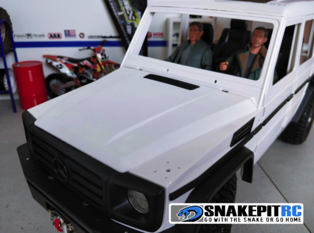 SPRC Hood and Grill for Team Raffee Co. G-Class in White Processed Versatile Plastic