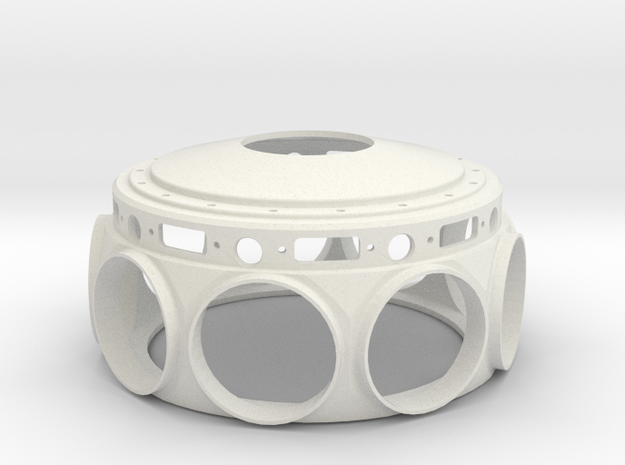 Le Rhone- 80hp - Crank Case - 1:4 Scale in White Natural Versatile Plastic