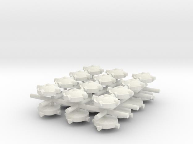 Land Mind x24 in White Natural Versatile Plastic
