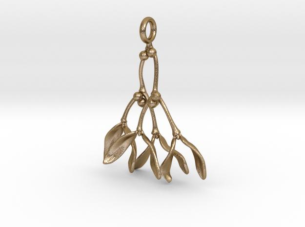 Mistletoe Pendant in Polished Gold Steel