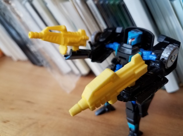 5mm Guns for TFSS Nightracer in Yellow Processed Versatile Plastic