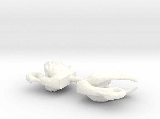 Swans in White Processed Versatile Plastic: 1:64 - S