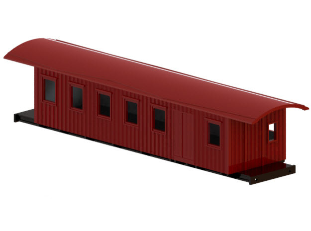 CF4a - Swedish passenger wagon in White Processed Versatile Plastic