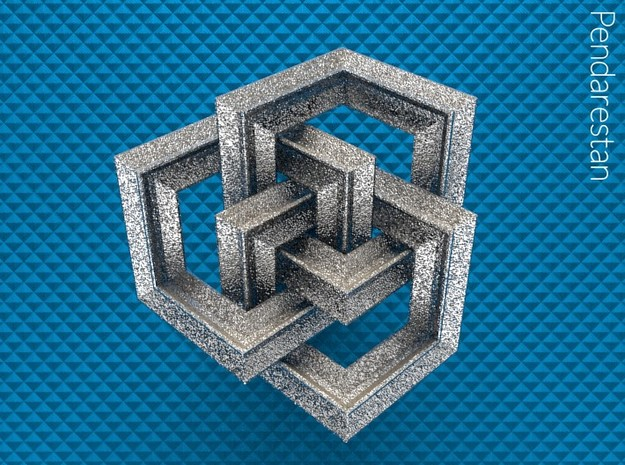 Borrocube Solid in Polished Nickel Steel: Extra Small