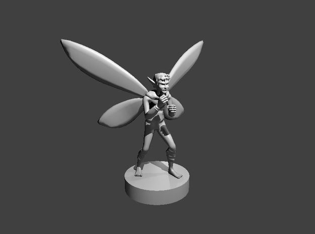 Boxing Pixie in Smooth Fine Detail Plastic