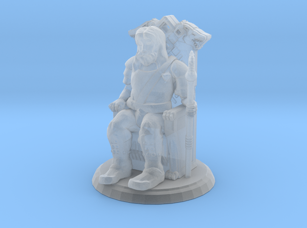 King on Throne (28mm Scale Miniature) in Smooth Fine Detail Plastic