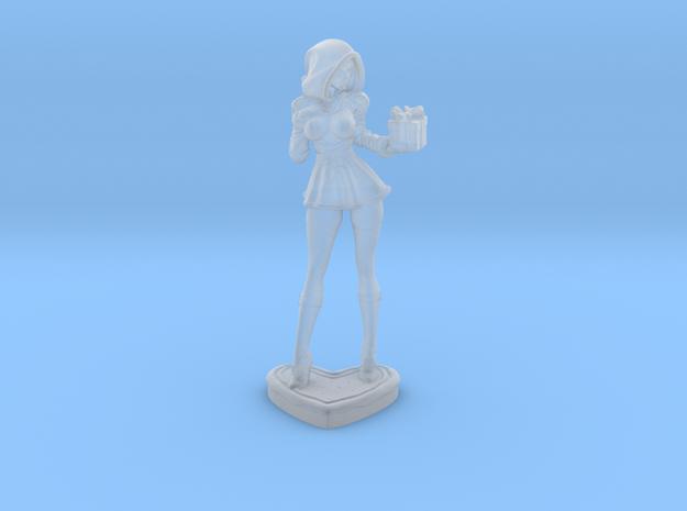 Sandra Claus w/present mini in Smooth Fine Detail Plastic