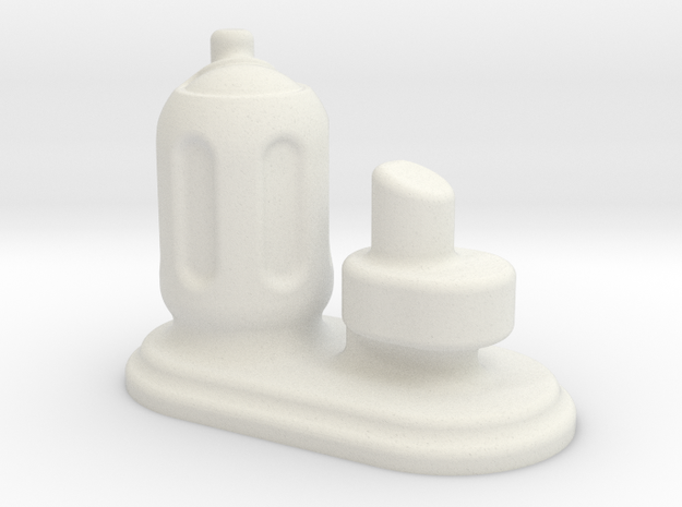6mm Scale Small Chemical Stores in White Natural Versatile Plastic