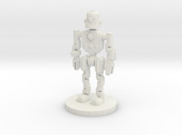 Robot Explorer (28mm Scale Miniature) in White Natural Versatile Plastic