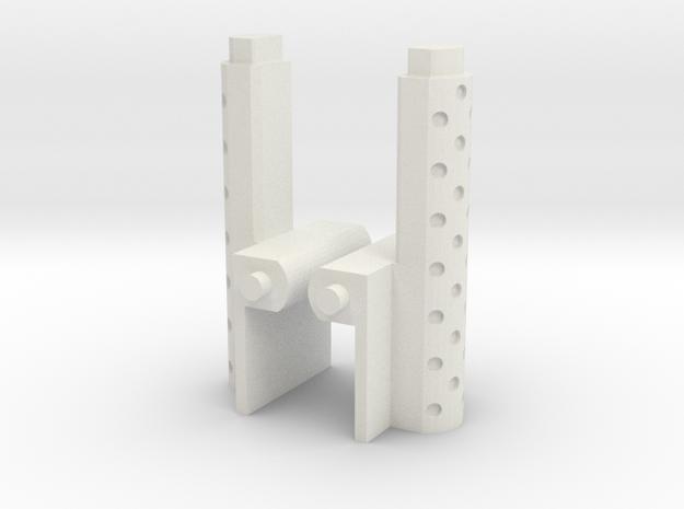 siege Optimus prime smokestacks replacement in White Natural Versatile Plastic