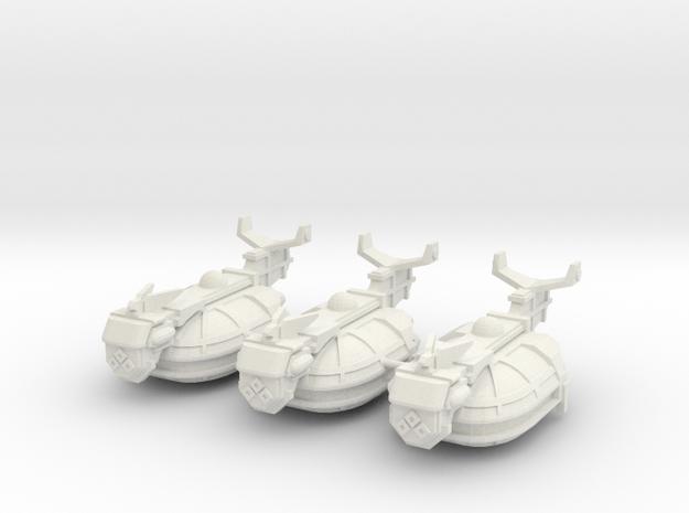 Escolta de Renombre Viajero x3 in White Natural Versatile Plastic