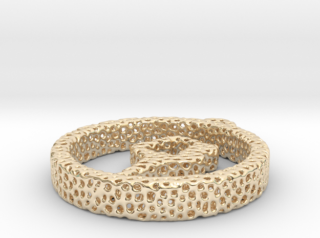 021    yoga voronoi in 14k Gold Plated Brass