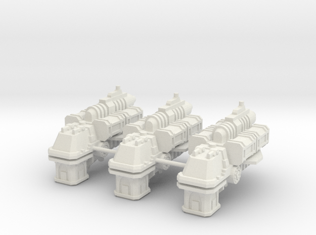 Escolta de Renombre Carguero Gamma-3-b  in White Natural Versatile Plastic