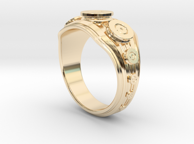 Bullet Ring in 14K Yellow Gold