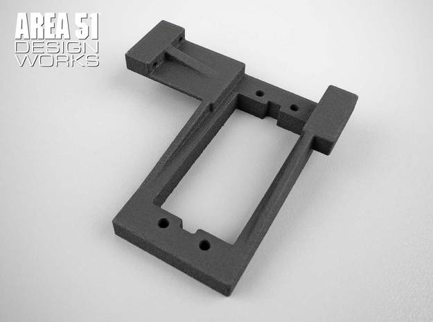 CR12 Servo Mount  in Black Natural Versatile Plastic