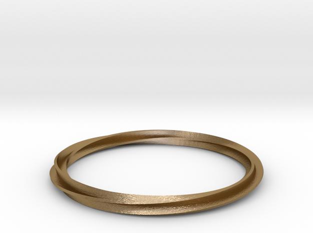 Bracelet Mobius in Polished Gold Steel