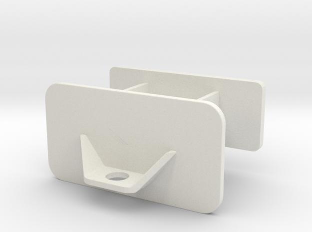 Front Weight Bracket  in White Natural Versatile Plastic