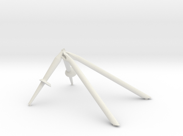 +Y landing gear outrigger in White Natural Versatile Plastic