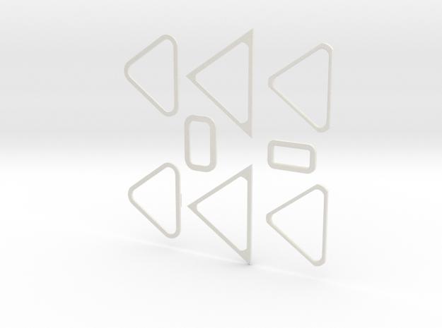 Windows in White Natural Versatile Plastic