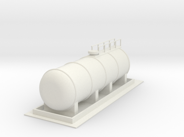 Dieseltankstelle tanking station 1:160 in White Natural Versatile Plastic