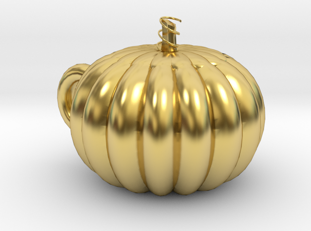 Pumpkin cup in Polished Brass