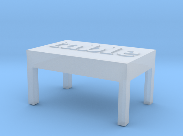 table in Smooth Fine Detail Plastic
