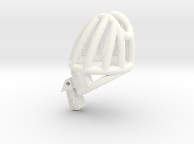 "The Cherry Keeper ""Headlock"" Cage - Standard in White Processed Versatile Plastic: Medium"