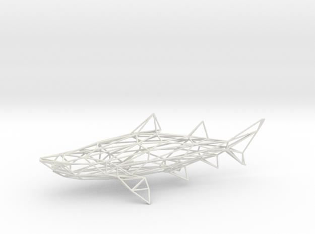 SHARK in White Natural Versatile Plastic