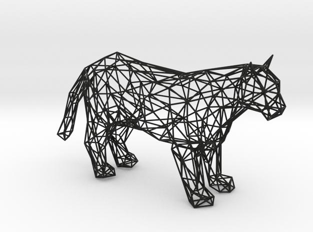 Panther wireframe in Black Natural Versatile Plastic