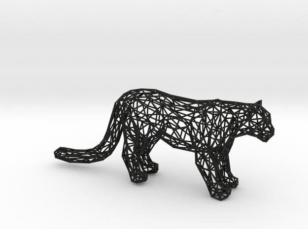 Wireframe LEOPARD in Black Natural Versatile Plastic