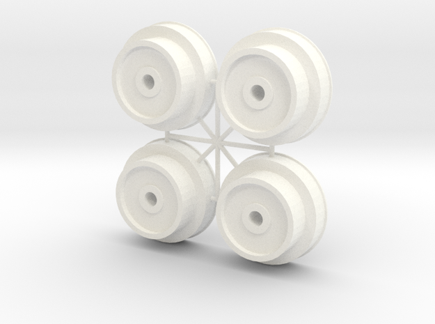 4X AMT WHEEL INNER in White Processed Versatile Plastic
