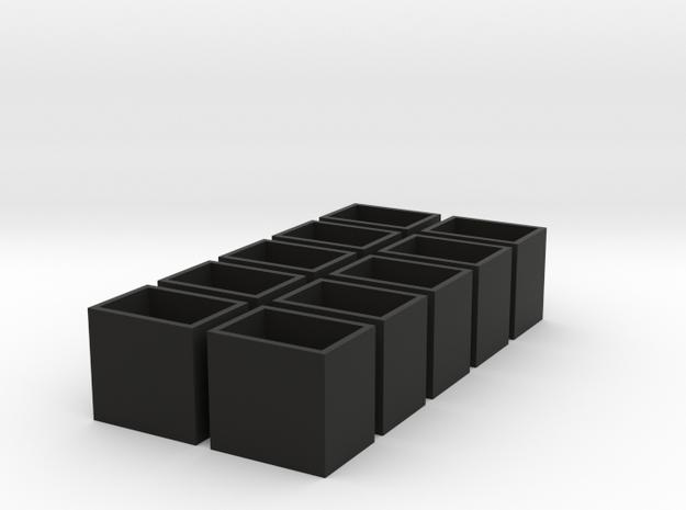 11x15x14 speaker box qty10 in Black Natural Versatile Plastic