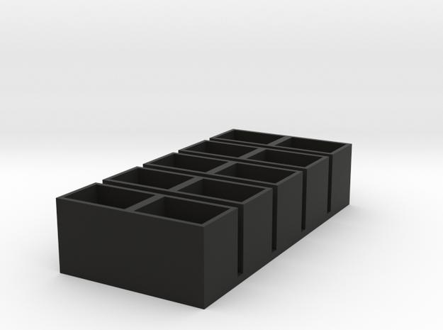 dual short 11x15x14 speaker box qty5 in Black Natural Versatile Plastic