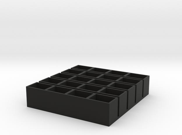quad short 11x15x14 speaker box qty5 in Black Natural Versatile Plastic