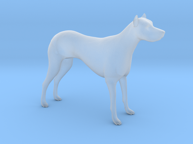 S Scale Guard Dog in Smooth Fine Detail Plastic