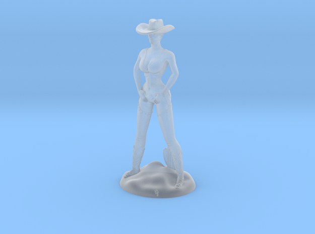 Cowgirl with Cactus (28mm Scale Miniature) in Smooth Fine Detail Plastic