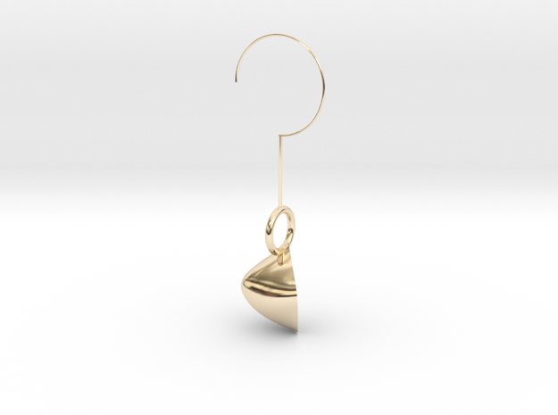 Rose petal earring in 14K Yellow Gold: Extra Small