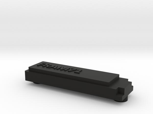 FRAM71 Bezel - No LED Hole in Black Natural Versatile Plastic