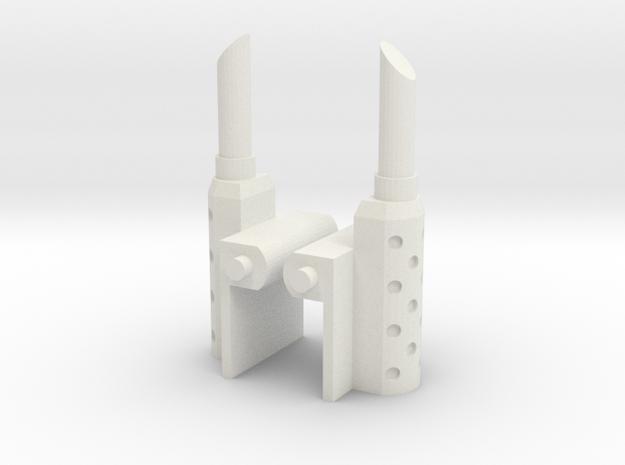 Siege Optimus prime smokestacks replacement - MP  in White Natural Versatile Plastic