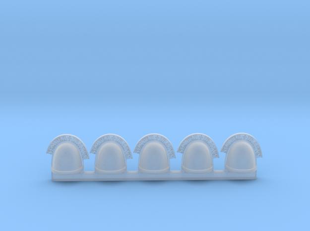 Pauldron_AngryMarine_07_LEFT in Smooth Fine Detail Plastic