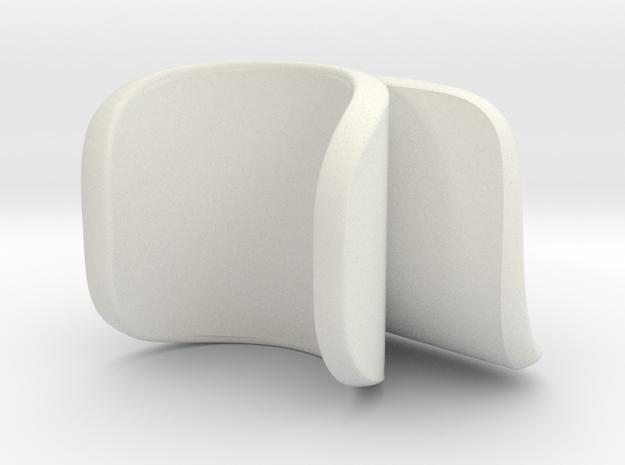 flute right thumbrest type G in White Natural Versatile Plastic
