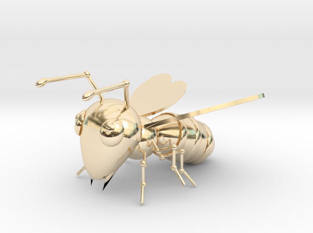 Bee in 14k Gold Plated Brass