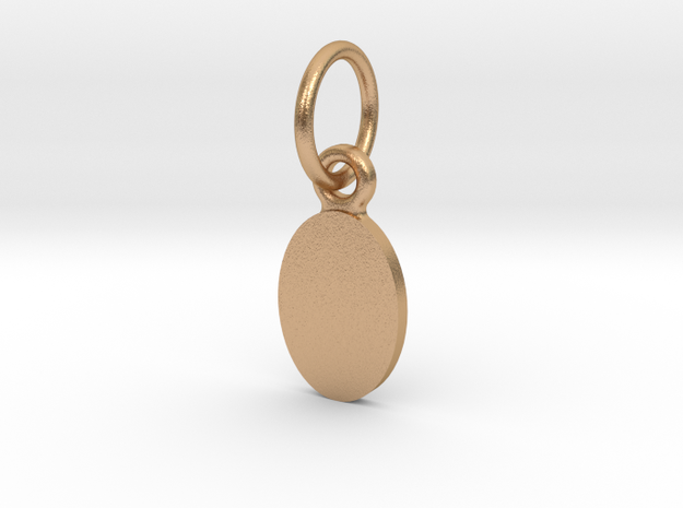 Pendant Base Oval 10 mm X 7 mm in Natural Bronze (Interlocking Parts)