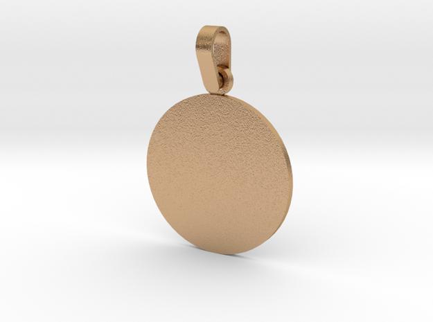 Pendant Base Round 1 Inch in Natural Bronze (Interlocking Parts)