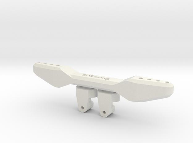SDRacing MST TCR rear damper mounts in White Natural Versatile Plastic