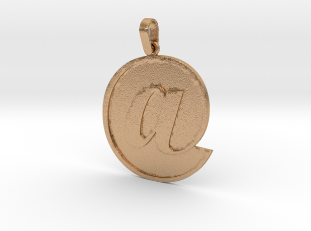 At Sign Letter Pendant in Natural Bronze (Interlocking Parts)