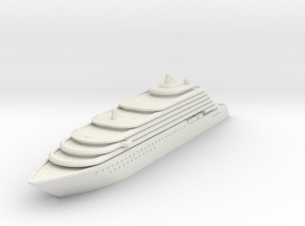 Ritz Carlton Yacht - V3 - 10 cm in White Natural Versatile Plastic