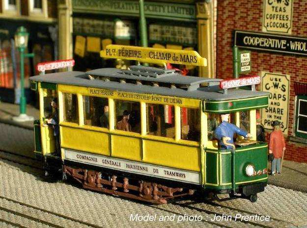 1:87 Tramway Paris type 300 in Smooth Fine Detail Plastic