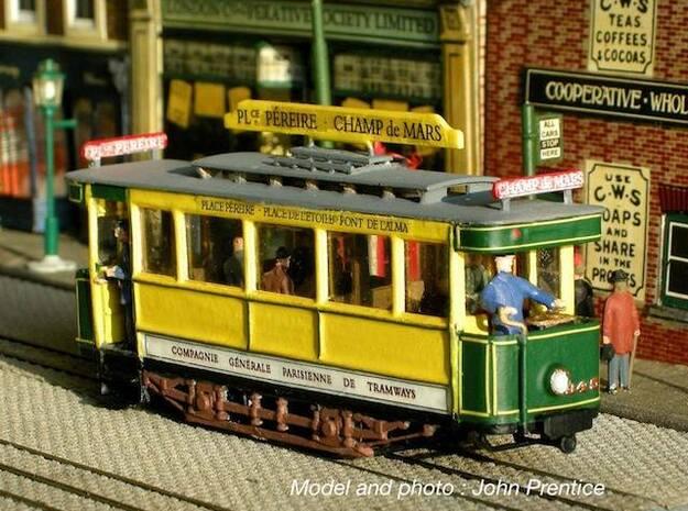 1:87 Tramway Paris type 300 in Smooth Fine Detail Plastic