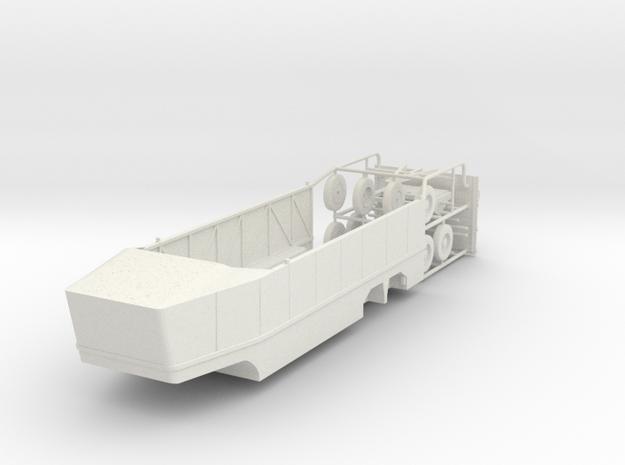 1/72 Anhaenger 10 ton schwimmfaehig fuer LWS in White Natural Versatile Plastic